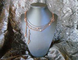 SOLD: Victorian Steampunk Jewelry Set by random-wish