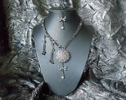 SOLD: Victorian Dragonfly Jewelry Set by random-wish