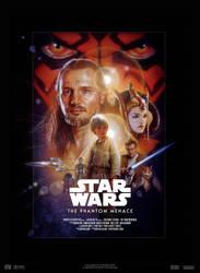 Star Wars I : The Phantom Menace - Movie Poster by nei1b