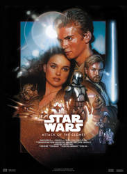 Star Wars II : Attack Of The Clones - Movie Poster by nei1b