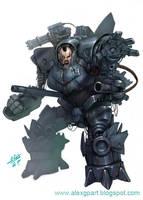 big cyborg by Toramarusama