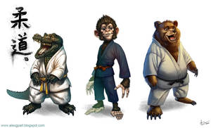 Judo+animals by Toramarusama
