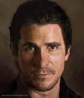Christian Bale portrait by Toramarusama