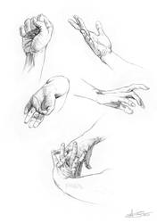 Hands drawing timelapse (link to video below) by Toramarusama