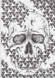dotwork skull by AsatorArise