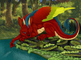 Rainbow dragon by Skychaser