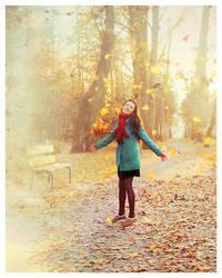 Dancing leaves. by Lentilcia