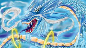 Winter God dragon by demonfox14