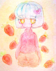 strawberry sketch by jojo263