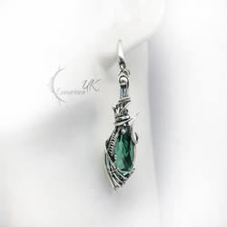 ELVIRGARTH - silver and green quartz by LUNARIEEN