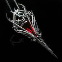 LURANTILH - silver , red quartz , garnet by LUNARIEEN