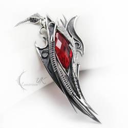 NURGMALH - silver and red quartz by LUNARIEEN