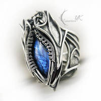 EXARTINQS  - silver and labradorite ( ring ) by LUNARIEEN