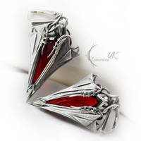 NAHSDUNX - silver and red quartz by LUNARIEEN