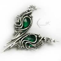 IZNAHSHI - silver and green quartz by LUNARIEEN