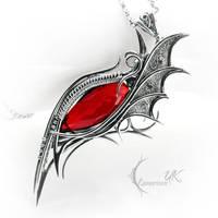 NURGHIRT - silver and red quartz by LUNARIEEN