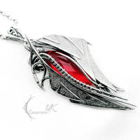AXENTURN - silver and red quartz by LUNARIEEN