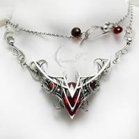 VALHTIRH - silver , red topaz , garnet, quartz by LUNARIEEN