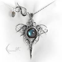 OZZAGIS - silver and labradorite by LUNARIEEN