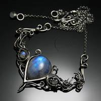 ASSAMANTIUM - silver and moonstone by LUNARIEEN