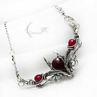 ESSELENTIUM - silver and ruby by LUNARIEEN