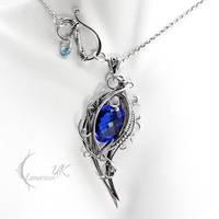 XANGDRIEL - silver, blue quartz by LUNARIEEN