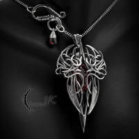 XYNTHNAR - silver and red quartz by LUNARIEEN