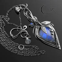 AGHERNEL - Silver and Moonstone. by LUNARIEEN