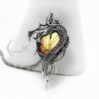 NUHVIR DRAGVARIS silver and labradorite by LUNARIEEN