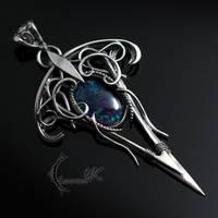 XYHTNARR, Silver, Opal Triplet by LUNARIEEN
