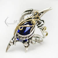 AZZANDRAL - Silver, 18Ct yellow gold, sapphire by LUNARIEEN