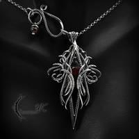 THANTHZIR - Silver, Red Quartz and Garnet by LUNARIEEN