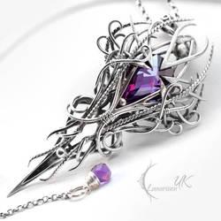 XAGHARNYS - Silver, Purple Zirconia and Amethyst by LUNARIEEN