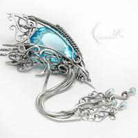 UXANTIEELH AQTURL Silver and Topaz by LUNARIEEN