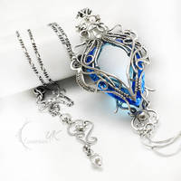 EXEERIVEL AXA Silver and London Blue Quartz by LUNARIEEN