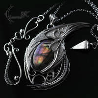 XACTHNAR DRACO- Silver and Purple Labradorite by LUNARIEEN