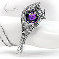 YZILH UNTHRILL - Silver and Amethyst. by LUNARIEEN