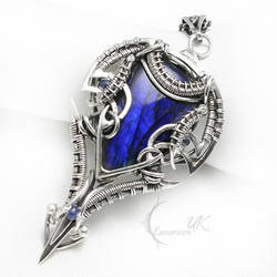 XETH ARINNTULX Silver, Labradorite, Sapphire by LUNARIEEN