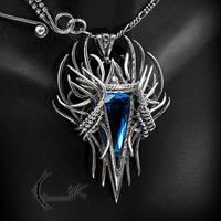 RNIALL NOHCTU - Silver, Blue Quartz and Topaz. by LUNARIEEN