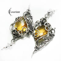 UXERXEN Silver and Yellow Quartz by LUNARIEEN