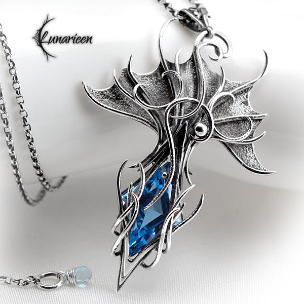 ANGHTHAR DRAGNI - Silver and Topaz. by LUNARIEEN