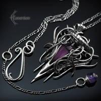 QUARRN LHYTH - Silver, Purple Quartz and Amethyst. by LUNARIEEN