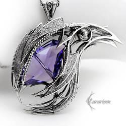 AHGNAR DRACO -  Silver, Purple Zirconia, Amethyst. by LUNARIEEN