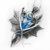 NAGRARATH Silver and Blue Quartz by LUNARIEEN