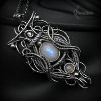 Necklace FHARNRIAL - Silver by LUNARIEEN