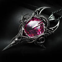 ILLEMMENTH Silver and Pink Zirconia by LUNARIEEN