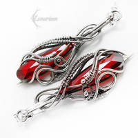 NARRELIX Silver and Red Zirconia by LUNARIEEN