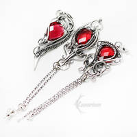 GHARTHILTH Silver ans Red Quartz by LUNARIEEN