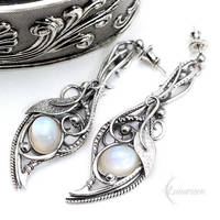 ENLRIAL DIAAR - Silver and Moonstone by LUNARIEEN