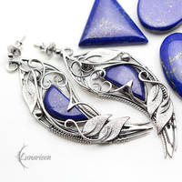 Earrings THRILLNIS - Silver and Lapis Lazuli by LUNARIEEN